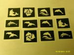 30 x  dolphin stencils for  Glitter tattoos   Ideal for Fund raising   girls  boys  children